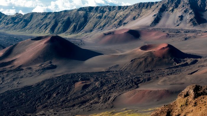 Mountain craters